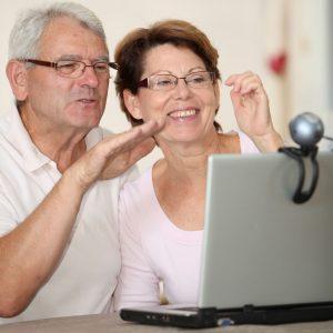 older couple on webcam
