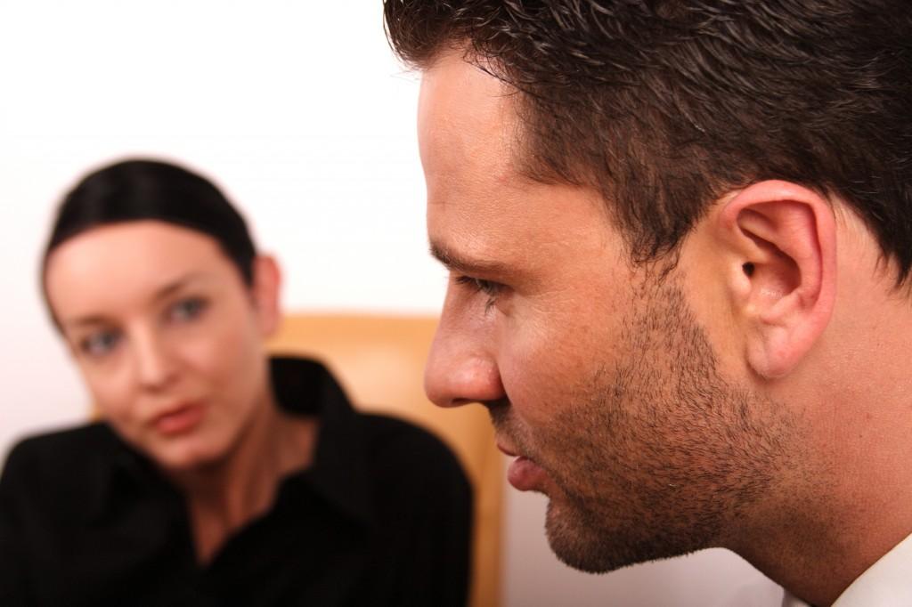 Man in family mediation
